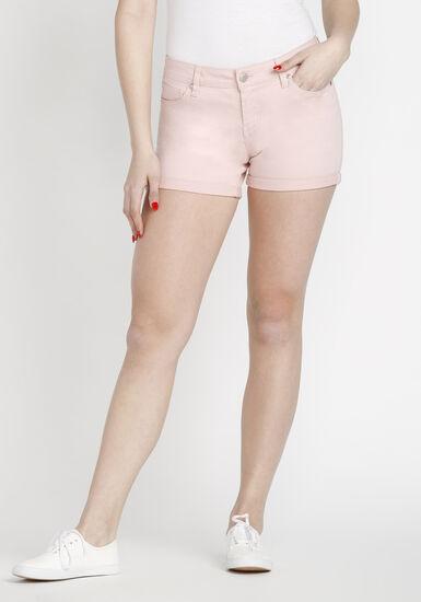 Women's Coloured Not-So-Short Short, PINK, hi-res