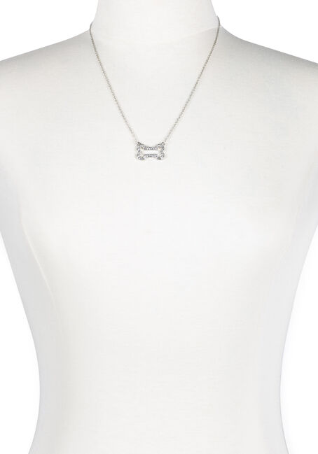 Ladies' Rhinestone Bone Necklace