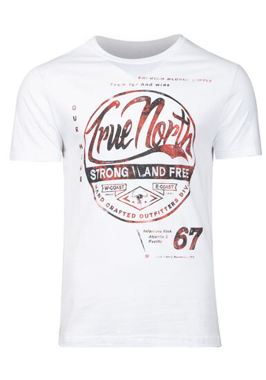 Men's Strong & Free Graphic Tee, WHITE, hi-res