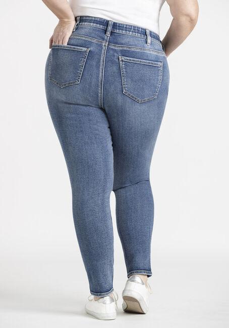 Women's Plus Skinny Jeans, MEDIUM WASH, hi-res