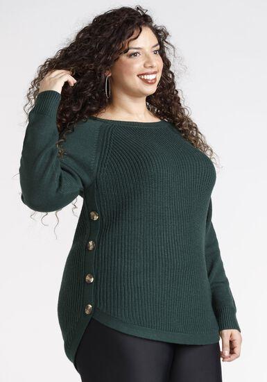 Women's Crew Neck Pullover, HUNTER GREEN, hi-res