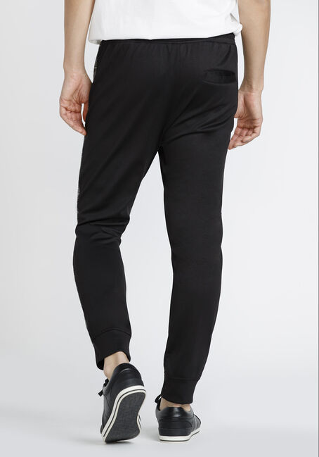 Men's Side Stripe Athletic Jogger, BLACK, hi-res