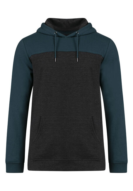 Men's Colour Block Pop Over Hoodie