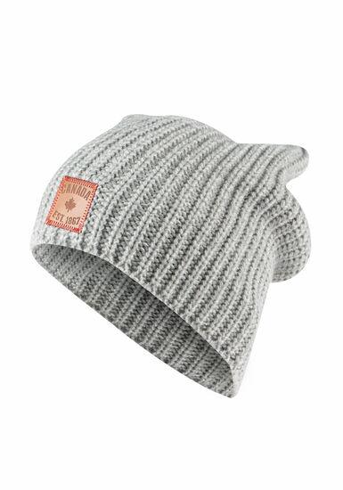 Women's Canada Slouchy Hat, GREY, hi-res