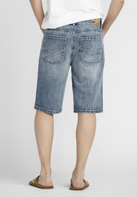 Men's Relaxed Jean Short, MEDIUM WASH, hi-res