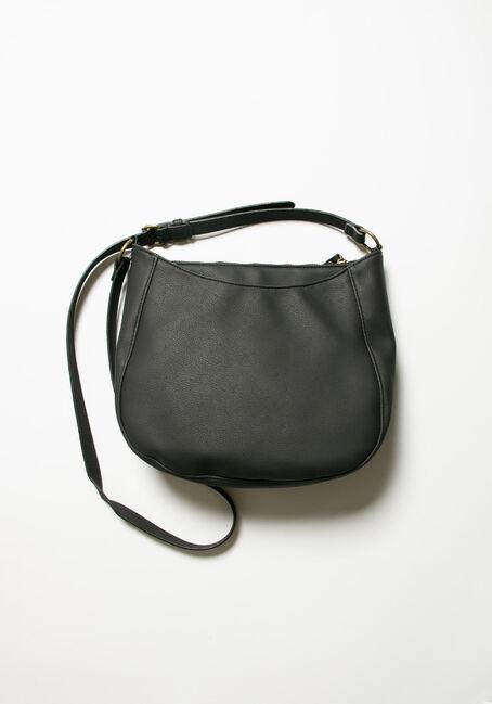 Women's Tassel Cross Body Bag, BLACK, hi-res
