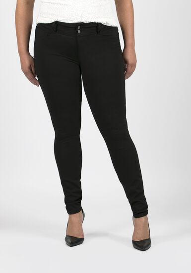Women's Plus Size Skinny Pants, BLACK, hi-res