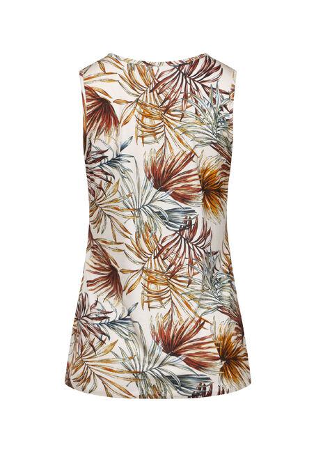 Women's Palm Print Lace Up Tank, SEDONA, hi-res