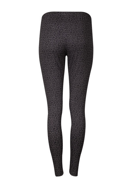 Women's Leopard Legging, CHARCOAL, hi-res