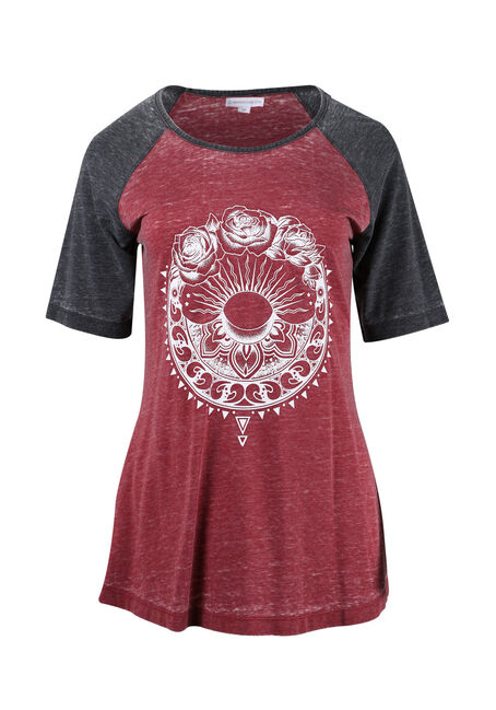 Ladies' Geo Rose Baseball Tee
