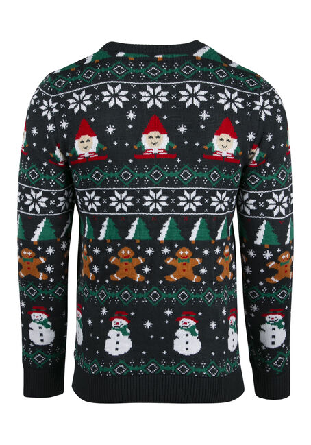 Men's Ugly Christmas Sweater, NAVY, hi-res
