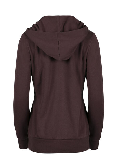 Ladies' Lace Up Hoodie, VIOLET, hi-res