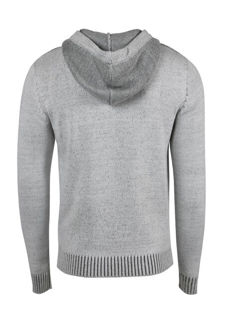 Men's Henley Sweater, WHITE, hi-res