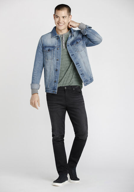 Men's Vintage Wash Denim Jacket, DENIM, hi-res