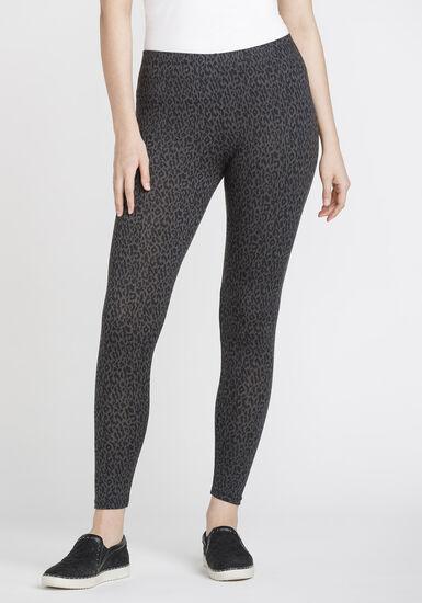 Women's Leopard Legging, CHARCOAL, hi-res
