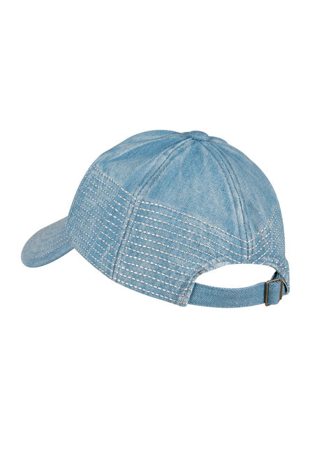 Ladies' Denim Baseball Hat, LIGHT VINTAGE WASH, hi-res
