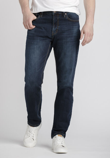 Men's Dark Wash Athletic Jeans