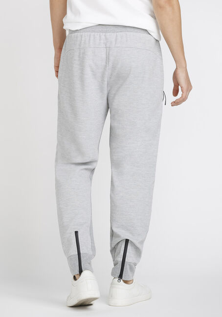 Men's Zip Fleece Jogger, LIGHT GREY, hi-res