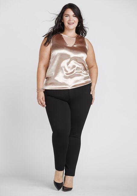 Women's Crinkle Shimmer Tank, GOLD, hi-res