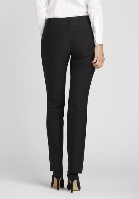 Ladies' High Rise Straight Dress Pant, BLACK, hi-res