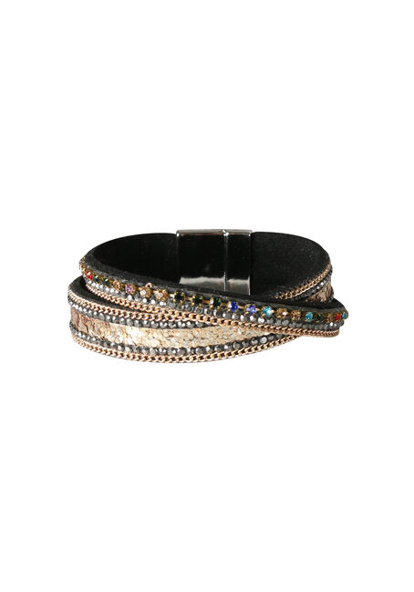 Ladies' Rhinestone Magnetic Bracelet
