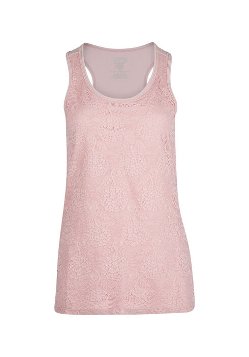 Women's Lace Front Tank, ROSEWATER, hi-res