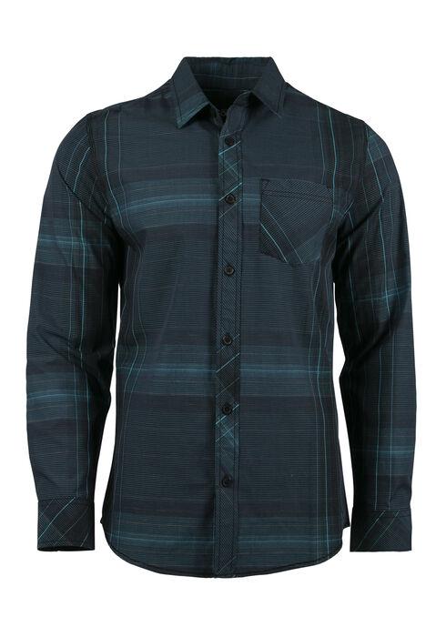 Men's Plaid Shirt, LAGOON, hi-res