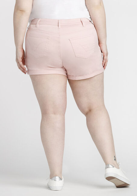 Women's Plus Size Not-so-short Short, PINK, hi-res
