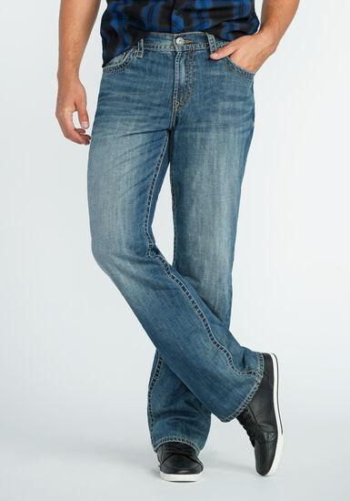 Men's Straight Leg Light Vintage Jeans, MEDIUM WASH, hi-res