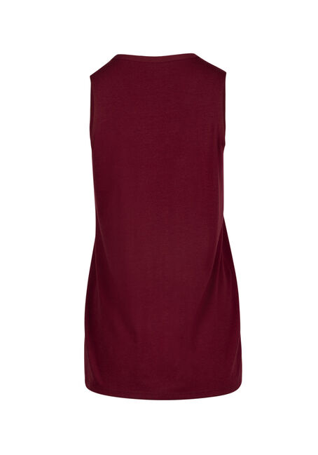 Ladies' Cage Neck Tank, CARDINAL, hi-res