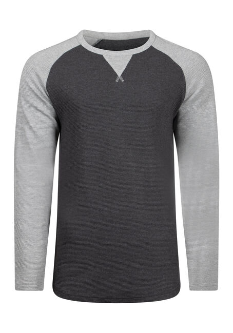 Men's Baseball Rib Knit Sweater