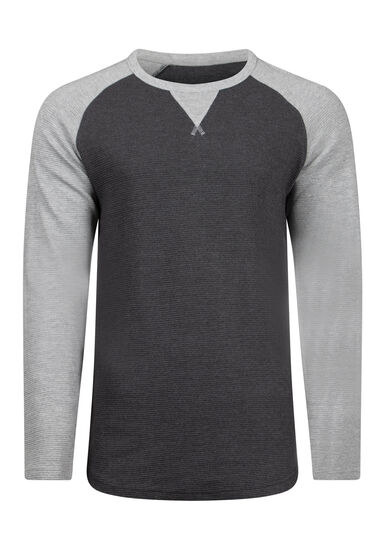 Men's Baseball Rib Knit Sweater, BLACK, hi-res