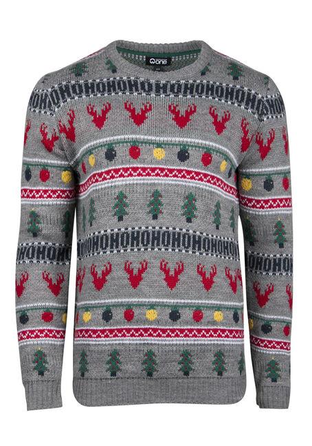 Men's Holiday Crew Neck Sweater