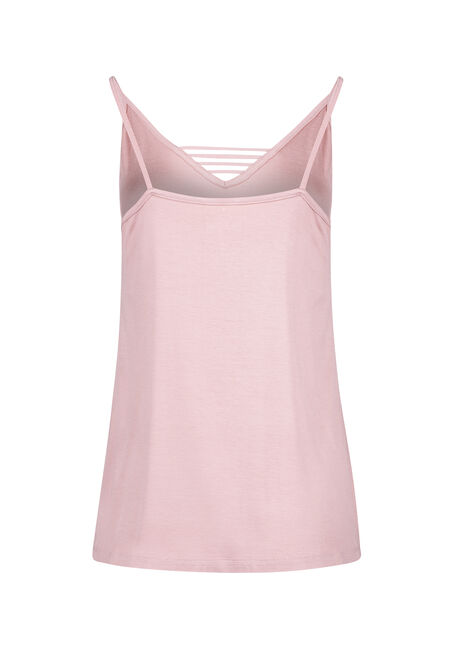 Women's Ladder Neck Tank, DUSTY PINK, hi-res