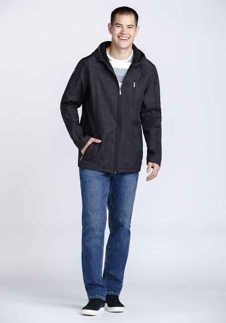 Men's Softshell Jacket, BLACK, hi-res