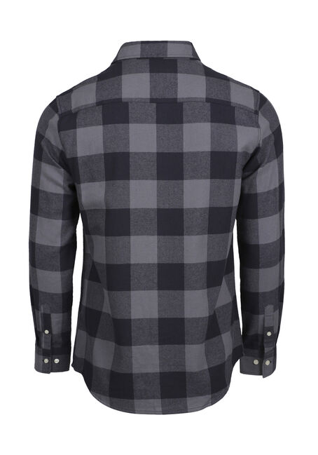 Men's Buffalo Plaid Flannel Shirt, BLUE, hi-res