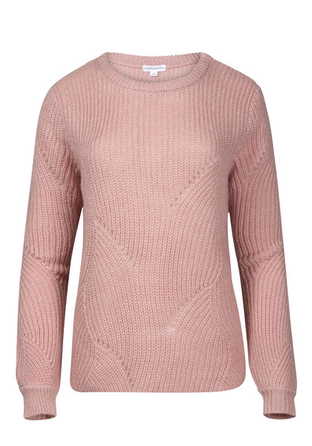 Women's Pointelle Crew Neck Sweater