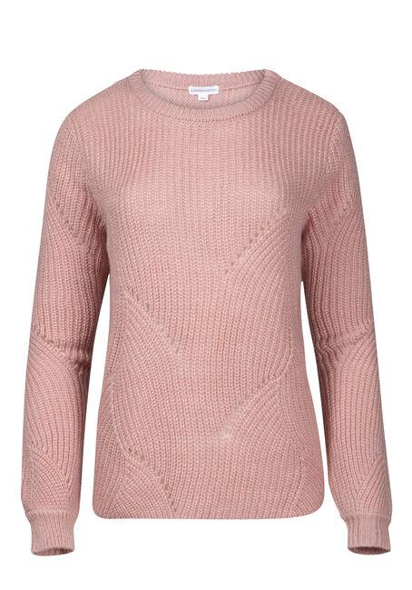 Women's Pointelle Crew Neck Sweater