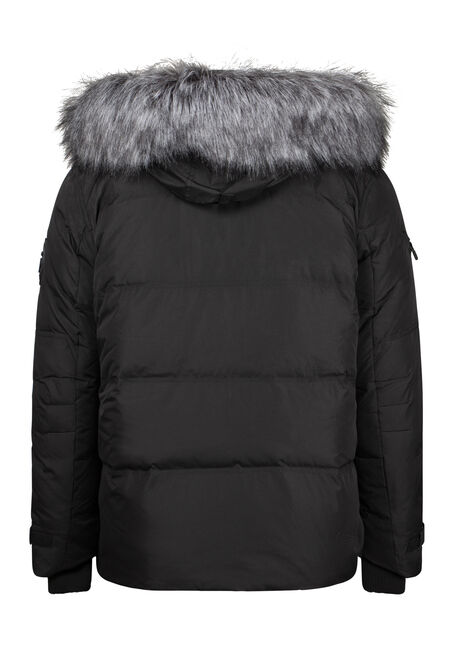 Men's Down Filled Parka, BLACK, hi-res
