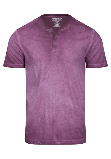 Men's Vintage Y-Neck Tee, PLUM WINE, hi-res