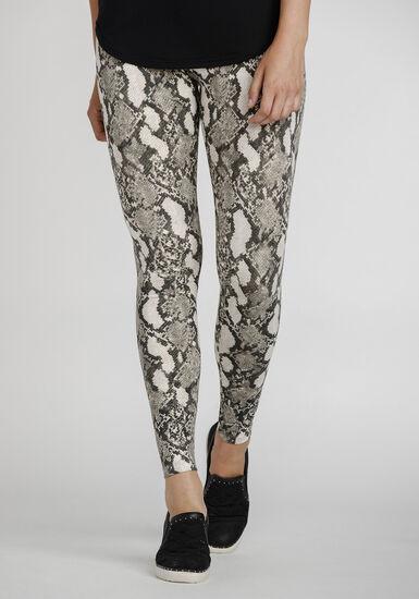 Women's Snake Print Legging, NATURAL, hi-res