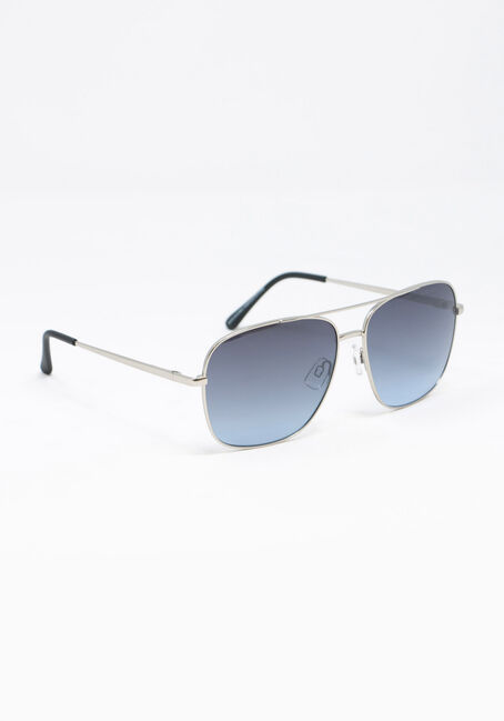 Men's Aviator Sunglasses, SILVER, hi-res
