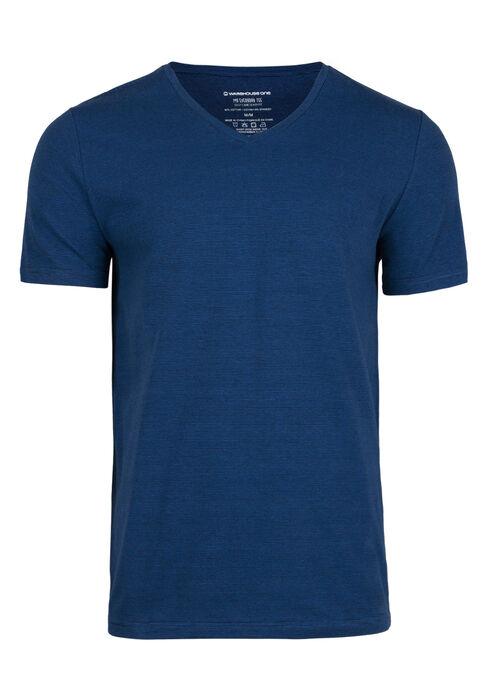 Men's Everyday Mini Stripe V-Neck Tee, ROYAL BLUE, hi-res