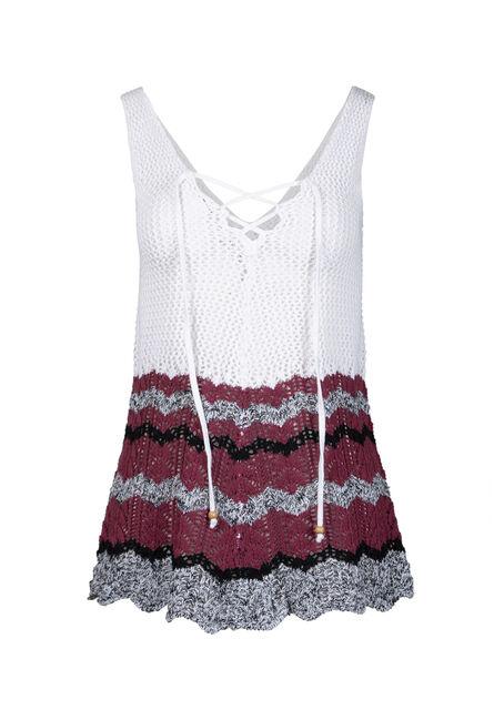 Women's Lace Up Sweater Tank