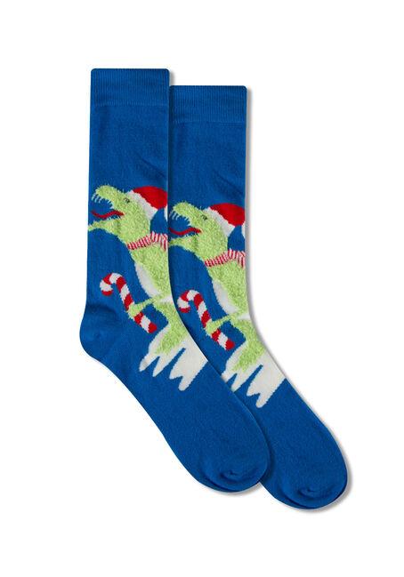 Men's  Festive T-Rex Socks