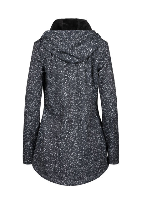 Women's Speckle Softshell Jacket, BLACK, hi-res