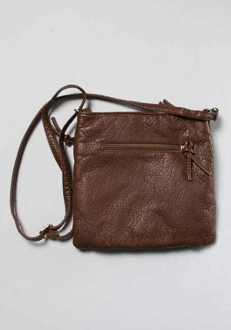 Buckle Pocket Crossbody Bag, BROWN, hi-res