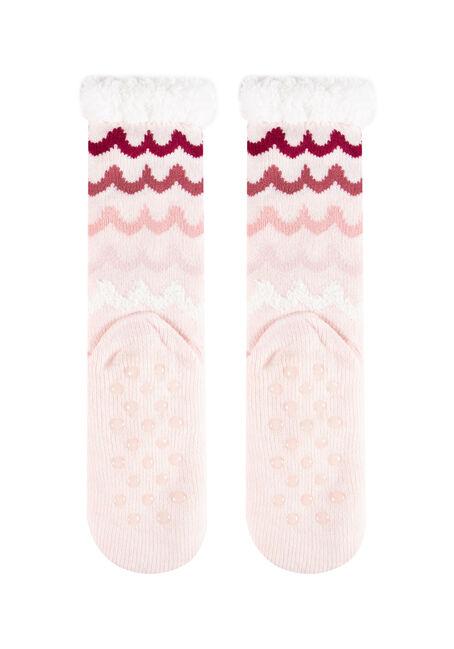 Women's Unicorn Slipper Socks, PINK, hi-res