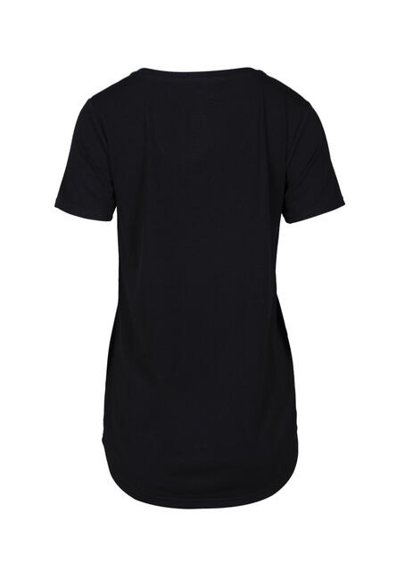 Women's Drapey V-Neck Tee, BLACK, hi-res