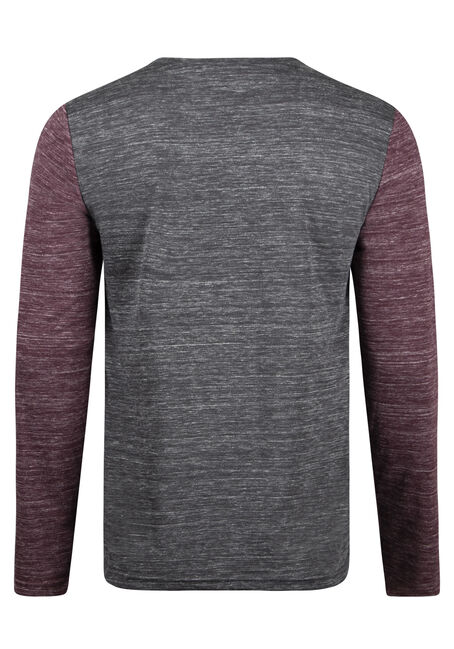 Men's Everyday Long Sleeve Tee, BURGUNDY, hi-res